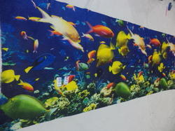 Fine Merino Aquarium Digital Printed Scarves