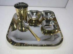 Brass Square Thali