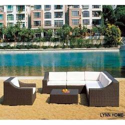 White And Brown Lawn Furniture