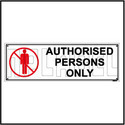592507 Authorized Persons Only Sign Name Plate