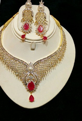 Gold Silver Necklace Set