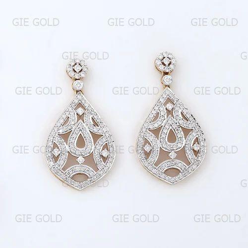 0b3cd1f02 Heavy & Beautiful Diamond Dangler Earring - Jewels Of Jaipur, Jaipur ...