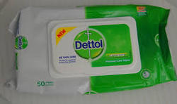 Dettol Anti-Bacterial Wet Wipes 50 Wipes Size