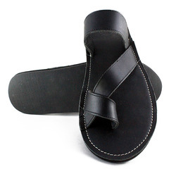 a5b9d706880 Leather Black Slippers