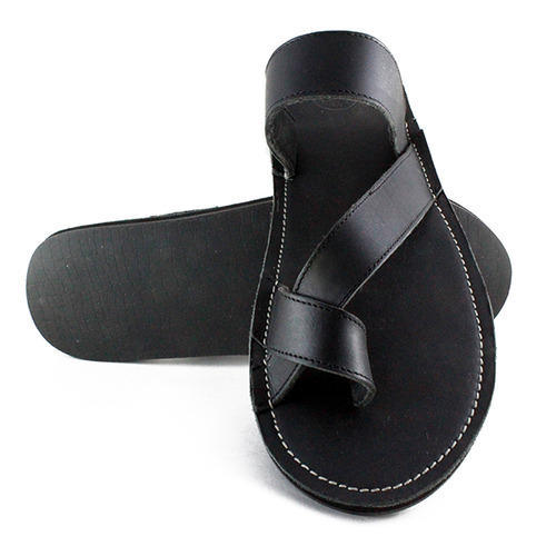 Leather Black Slippers at Rs 300/1 pr