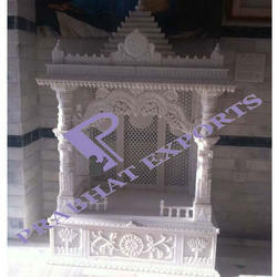 Indoor White Indian Marble Temple, Size: 4 - 10 Feet, For Home