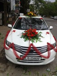 Car flower decoration in sector 22 gandhinagar id 8056352248 car decoration junglespirit Gallery