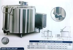 Stainless Steel Milk Cooling Tank 850L