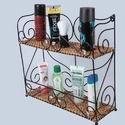 Double Wicker Cosmetic Rack