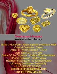Gems Stones Yellow Sapphire