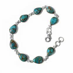 Designer Blue Turquoise Bracelet