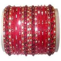 Red Color Brass Bangle