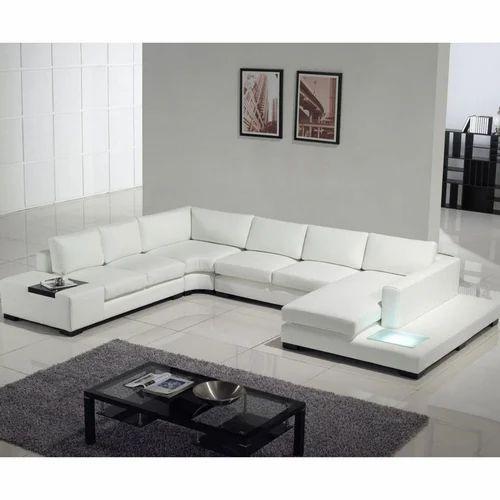 Leather White Modern Luxury Sofa