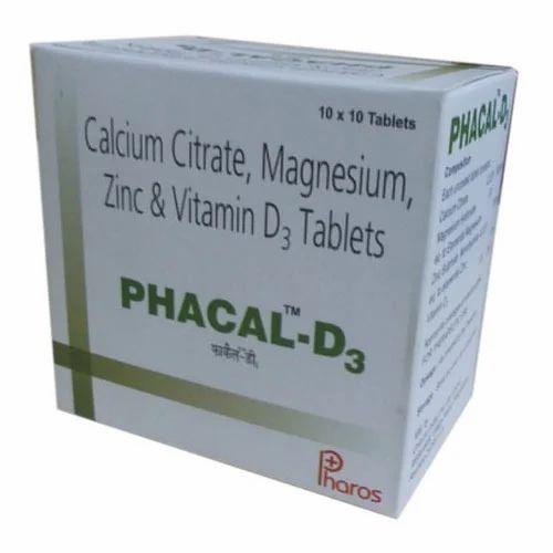 Calcium Citrate Magnesium Zinc And Vitamin D3 Tablets Pharos