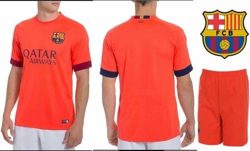 b3fc11b26 Navex Football Jersey Club Barcelona Orange Short Sleeve Ket ...