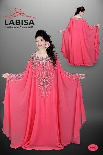 475c3fa500795 Labisa Full Sleeves Pink Designer Kaftan