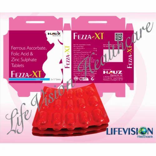 Ferrous Ascorbate Folic Acid Zinc Sulphate Tablets Lifevision