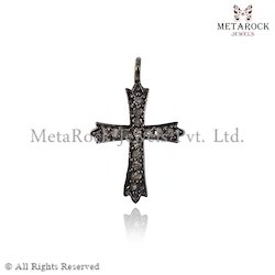 Cross Sign Diamond Charm Pendant