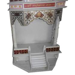 Indoor White Marble Mandir, For Home, Size/Dimension: Medium