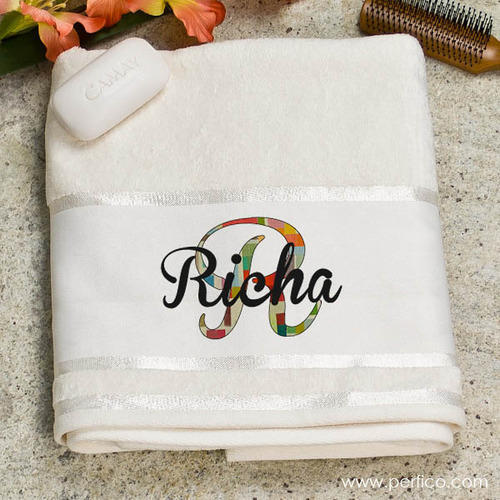 Personalized Towels: Duster Cloth And Ladies Stoles Manufacturer Manufacturer