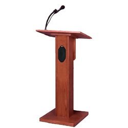 Wooden Podium Stand, Size: 700 Mm X 500 Mm X 1100 Mm