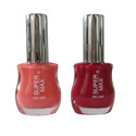 Red And Peach Colorful Nail Polish