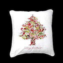 Chirstmas Tree Printed Cotton Cushion Covers