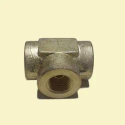 Brass 4 Way Rubber Hose Tee