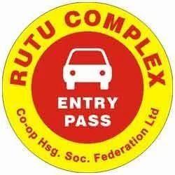 Vehicle Parking Sticker Label
