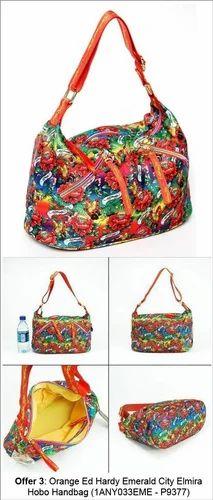 Orange Ed Hardy Emerald City Elmira Hobo Handbag 5bdb612f6921b