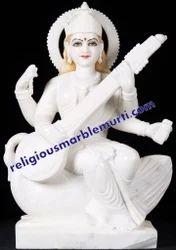 Marble God Saraswati Statue