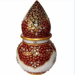 Marble Handicraft Marble Pooja Thali Manufacturer From