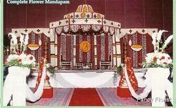 Complete Flower Octagon Mandap with Dome and Side Panels