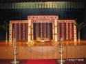 Complete Flower Square Mandap With Side Panels