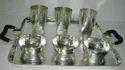 Silver Tray Glass Set