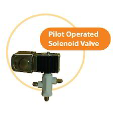 CASTLE Gas Pilot Operated Solenoid Valve, Model Name/Number: S 180