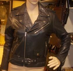 Genuine Leather Ladies Motorcycle Jacket
