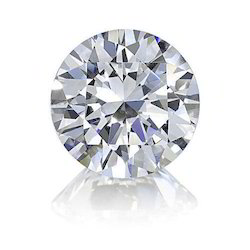 White Round Real Natural Solitaire Diamond