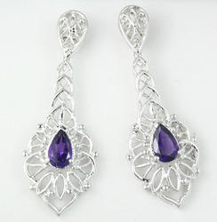 Silver Long Earring