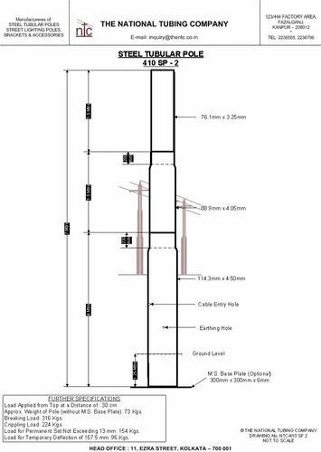 Transmission Pole Steel Tubular Pole Steel Tubular