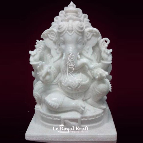 White Marble Ganesh Idol At Rs 13000 Piece Marble Ganpati Statue