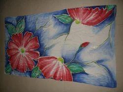 Saboori Casual Wear Silk Cotton Hand Painted Stoles