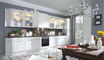 White High Gloss Laminate Finish Modular Kitchens Baron Homes Pvt