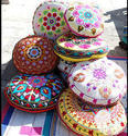 Hand Embroidered Ottoman Covers Suzani Ottoman Covers