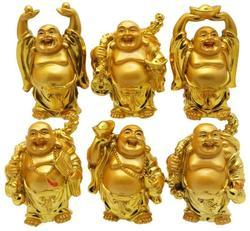 6 Golden Laughing Buddha