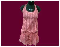 766fb0101ce85 30 And 34 Blue Motion Wrinkle Print Halter Bikini Top