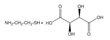 Image result for mercaptamine bitartrate