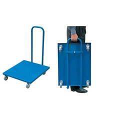 Black Foldable Hand Platform Trolley