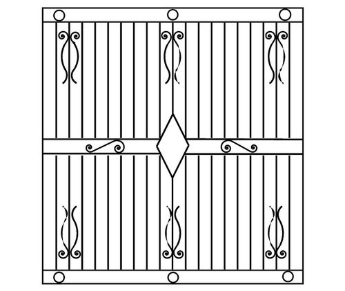 Silver Steel Window Grills, Rs 200 /square Feet, Keddy