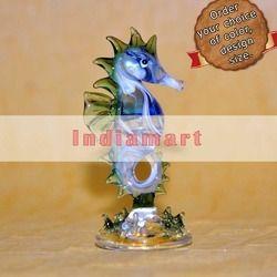 Glass Seahorse Desk Decor - Handmade Sculpture
